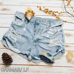 Carmar LF Distressed Ripped Fray Cut Off Shorts